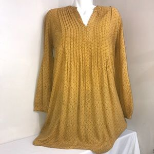 🧩Old Navy Mellow Yellow Flowing Long Sleeve Dress